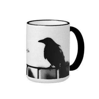 """coffee """"coffee """" mug """"black caneca com contorno"""