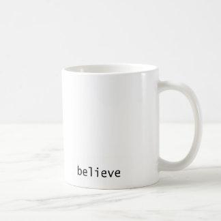 Coffee Mug 'believe' Caneca