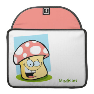 Cogumelo cor-de-rosa coral bolsa para MacBook