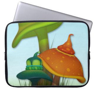 Cogumelos mágicos bolsa e capa para computadore