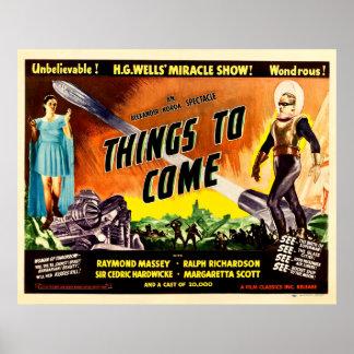Coisas a vir - cartaz cinematográfico 1936 do pôster