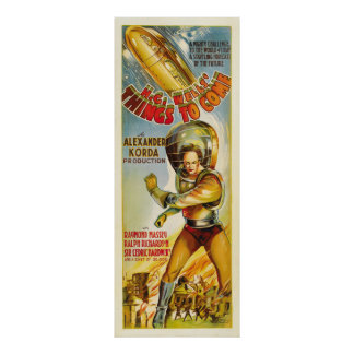 Coisas a vir - cartaz cinematográfico 1936 do vint posteres