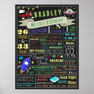 Coisas que voam poster do aniversário dos meninos