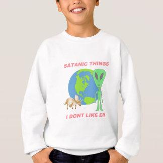Coisas satânicas eu não gosto d - terra lisa tshirt