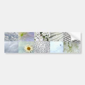 Colagem branca da fotografia da cor adesivo para carro