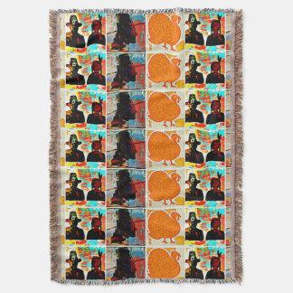 Colagem da arte moderna da acção de graças manta