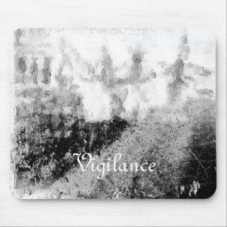 Colagem da paisagem do vintage da vigilância mouse pad