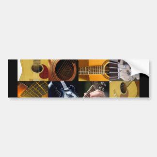 Colagem das fotos da guitarra adesivo para carro