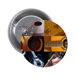Colagem das fotos da guitarra bóton redondo 5.08cm