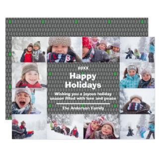 Colagem de 12 fotos boas festas - cartão de Natal