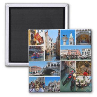 Colagem de Veneza Ímã Quadrado