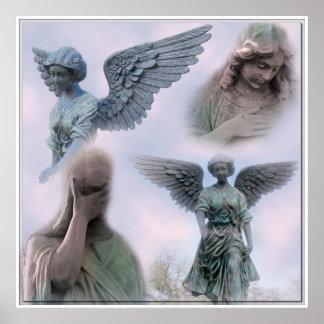 Colagem do anjo impressão