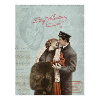 Colagem do coração do amor do casal do dia dos nam cartão postal