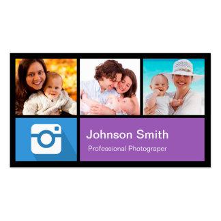 Colagem do quadro da foto do fotógrafo - estilo do cartão de visita