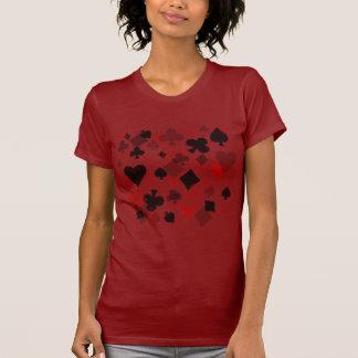 Colagem do terno do cartão do vintage - vermelho & tshirts