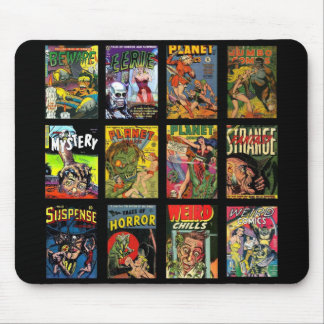 Colagem dos cobrir de banda desenhada do vintage d mouse pad