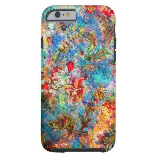 Colagem floral rústica do Grunge Capa Tough Para iPhone 6