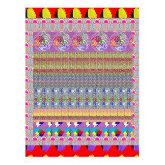 Colagem MÁGICA NVN188 NavinJOSHI do tapete da arte Cartões Postais