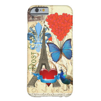 Colagem romântica de Paris Capa Barely There Para iPhone 6