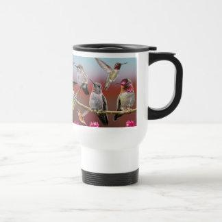 Colagem Rufous e de anna do colibri Caneca Térmica