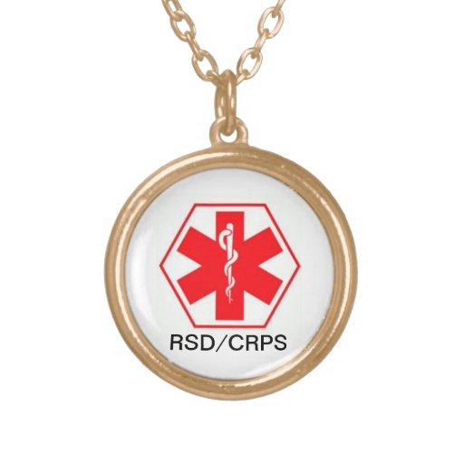 Colar alerta médica CRPS de RSD customizável