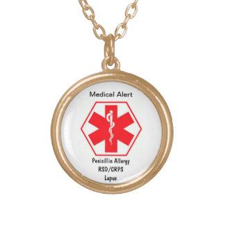 Colar alerta médica customizável