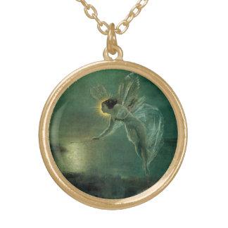Colar Banhado A Ouro Espírito da noite por Grimshaw, fada do Victorian