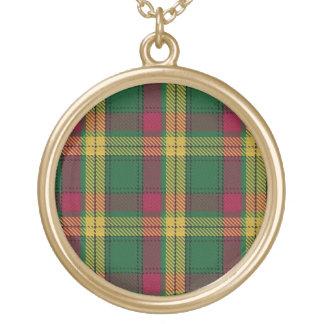 Colar Banhado A Ouro Tartan escocês de MacMillan do clã do dom