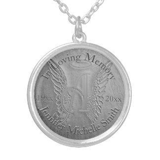 Colar Banhado A Prata A é para o memorial da prata do anjo