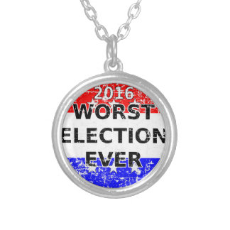 Colar Banhado A Prata A eleição a mais má nunca