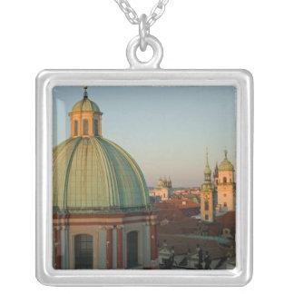 Colar Banhado A Prata Abóbada da igreja do santo Francis, Praga, checa
