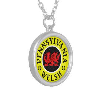 Colar Banhado A Prata Americano de Pensilvânia Galês