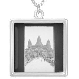 Colar Banhado A Prata Angkor opinião da entrada de Cambodia, Angkor Wat