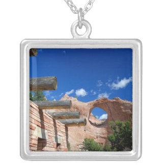 Colar Banhado A Prata Arizona, rocha da janela. Capital do Navajo