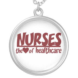 Colar Banhado A Prata As enfermeiras são o coração dos cuidados médicos