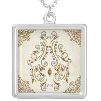 Colar Banhado A Prata As jóias de Lakshmi