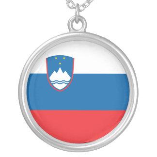 Colar Banhado A Prata Bandeira de Slovenia
