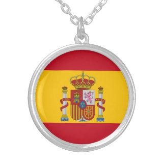 Colar Banhado A Prata Bandeira espanhola