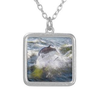 Colar Banhado A Prata Barco dos Followings dos golfinhos