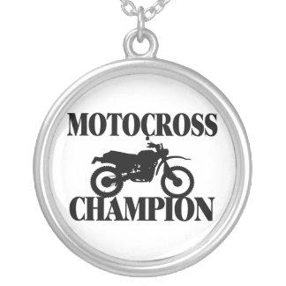 Colar Banhado A Prata Bicicleta da sujeira do campeão do motocross