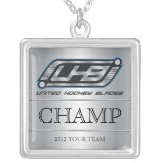 Colar Banhado A Prata Campeão de UHB