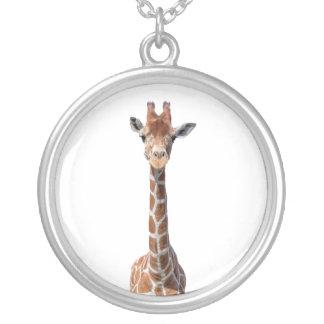 Colar Banhado A Prata Cara bonito do girafa