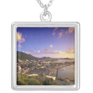 Colar Banhado A Prata Caribe, Índias Ocidentais francesas, St Martin.