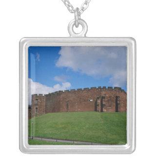 Colar Banhado A Prata Castelo que mostra a torre da meia lua, Chester,