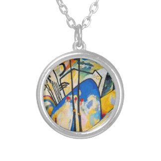 Colar Banhado A Prata Composição quatro de Wassily Kandinsky - arte
