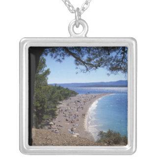 Colar Banhado A Prata Croatia, ilha de Brac, Bol, praia dourada do cabo