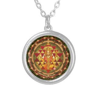 Colar Banhado A Prata Devi Lakshmi Stotram- Shri Yantra
