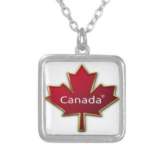 Colar Banhado A Prata Dia de Canadá
