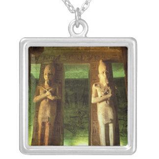 Colar Banhado A Prata Egipto, Abu Simbel, estátua de Ramesses II,