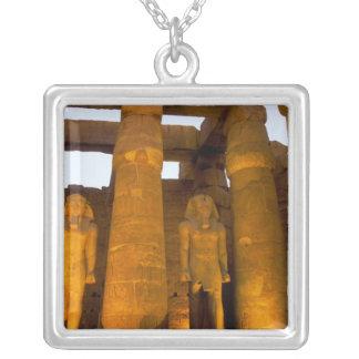 Colar Banhado A Prata Egipto, Luxor.  Templo de Karnack